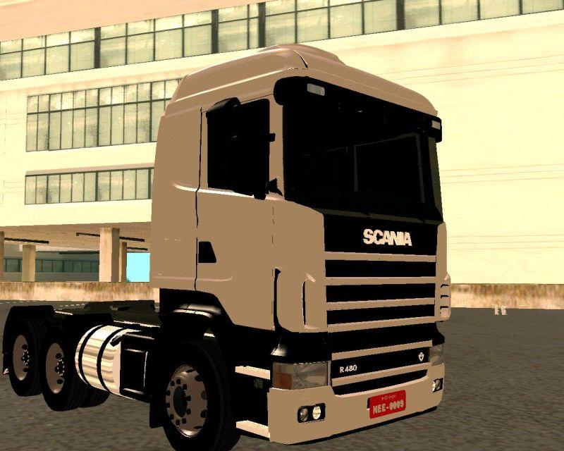 GTA San Andreas Addon - Scania 124 R480 6x4 Truck