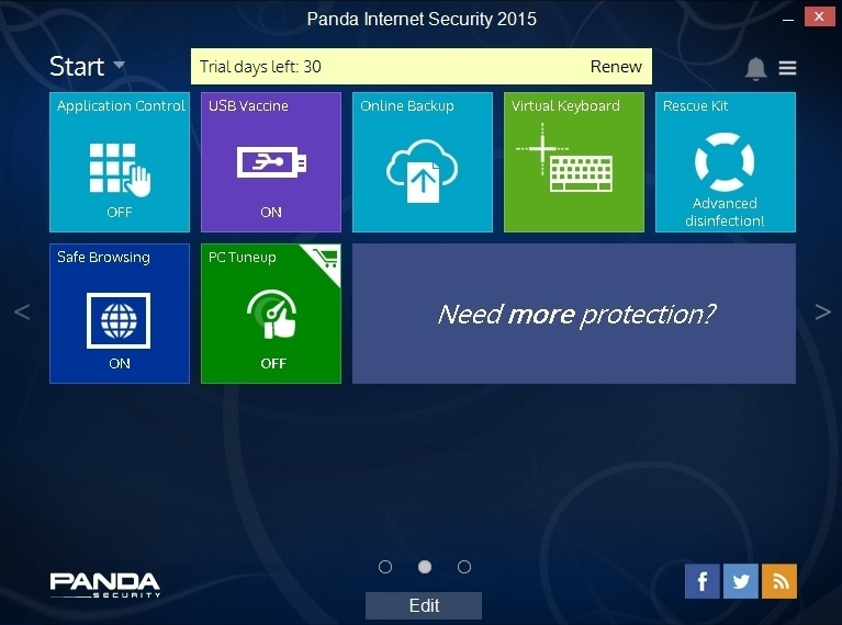 Купить антивирус Panda Internet Security 2015, 1 год 1 ПК - 3 ЛИЦЕНЗИИ.