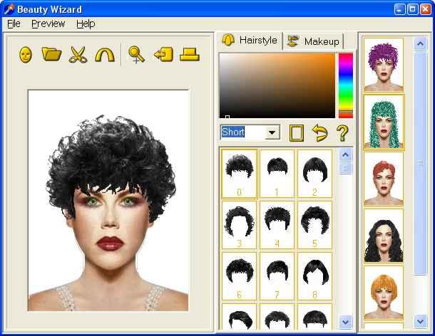 Saç Rengi Değiştirme Programı 1