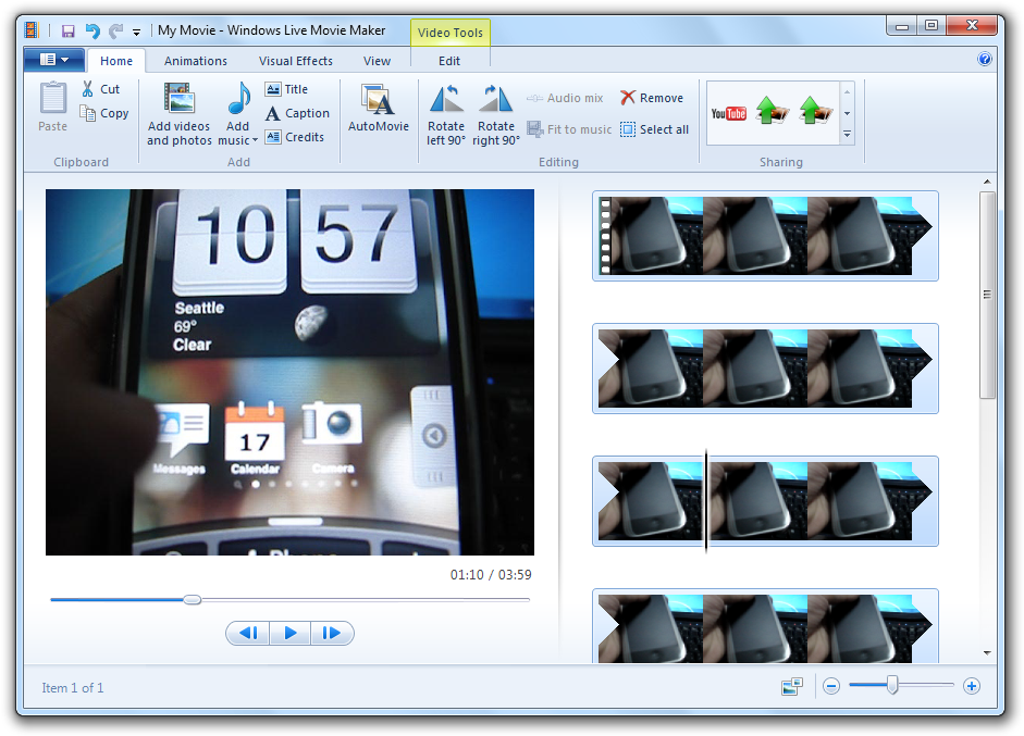 Windows Live Movie Maker 3