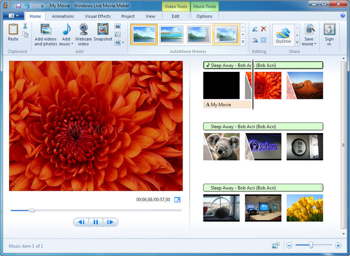 Windows Live Movie Maker 4